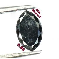 Buy cheap GIA CERTIFIED 0.86 Cts Natural Loose Diamond Marquise Fancy Black Color L5224 from wholesalers