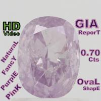Buy cheap GIA CERTIFIED 0.70 Cts Natural Fancy pink Purple Oval Loose Diamond L4503 from wholesalers