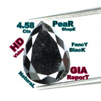 Buy cheap GIA CERTIFIED 4.58 Cts Natural Loose Diamond Brilliant Pear Black L5161 from wholesalers