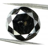 Buy cheap GIA CERTIFIED 3.42 Cts Natural Loose Diamond Round Brilliant Fancy Black Color L5307 from wholesalers