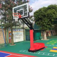 Buy cheap Height adjustable movable outdoor basketball stand from wholesalers
