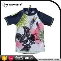 Buy cheap Custom Sublimated Printed Rashguards With Super Stretch Lycra Fabric For Children Boys from wholesalers