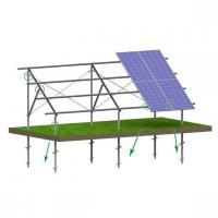Buy cheap C type steel screw pile ground PV mounting system from wholesalers