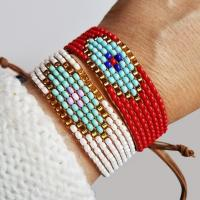 Buy cheap Silver Evil Eye Beaded Bracelet from wholesalers