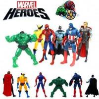 Buy cheap 6pcs The Avengers Kid Character Figures Toy Batman Spiderman Thor Wolverine Hulk $8.95 from wholesalers