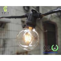 Buy cheap G40 String Lights with 25 Clear Globe Bulbs-UL listed for Indoor/Outdoor Commercial String Lights from wholesalers