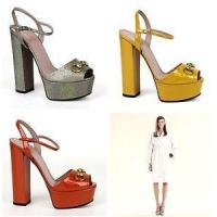 Buy cheap $750 New Authentic Gucci Leather Platform Horsebit Sandals Shoes 338961 from wholesalers
