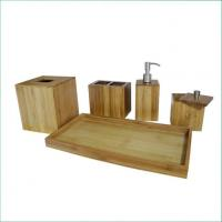 Buy cheap Natural Bamboo Panel Great Quality Bamoo Bathroom Accessories Set for Spa from wholesalers