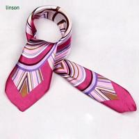 Buy cheap Chinese printing twill silk square scarves 90x90 for office ladies from wholesalers
