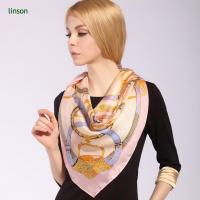 Buy cheap Custom Square Size 12mm Silk Printed Scarf For Office Lady from wholesalers