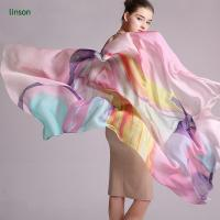 Buy cheap Printed Silk Scarf 100% Pure Silk Chiffon Scarf/Long Size Custom Printed Scarves Shawls from wholesalers