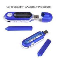 China AAA Battery USB TF Card MP3 Player Voice Recorder on sale
