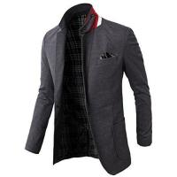Buy cheap H2h Mens Elegant Fashion Slim Fit Blazer Jacket With Snap Collar Gray Us 2xl/asia 4xl (kmobl01) from wholesalers