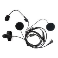 Buy cheap Zeadio Open/half Face Motorcycle Bike Helmet Earpiece Headset Mic Microphone For 2 Pin Kenwood from wholesalers