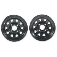 Buy cheap ATV Rims & Wheels Itp Delta Steel Black Wheel With Machined Finish (12x7/4x137mm) from wholesalers