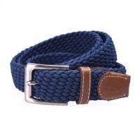 Buy cheap Yusen-Woven Elastic Belt with Leather Tab from wholesalers