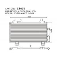 Buy cheap Condenser LT600 (ACURA 80100-TL2-A01/TL1-G01) from wholesalers