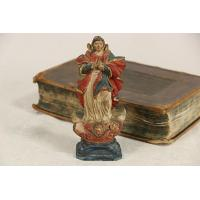 Buy cheap Santo Virgin Mary late 1700's Sculpture, Hand Painted Miniature Statue product
