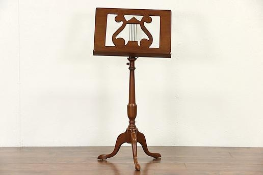 Quality Music Stand, Vintage Mahogany with Lyre, Adjustable for sale