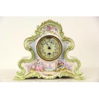 Buy cheap Boston Signed Antique 1880's Victorian Clock, French Porcelain Case from wholesalers