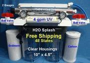 Buy cheap Big Blue Water Filter - Dual, 10 Clear, Carbon, Sediment, 4 GPM UV from wholesalers