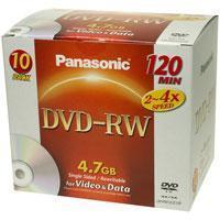 Buy cheap Panasonic 120 Minute 4.7GB DVD-RW Disc(Pack 10)[LM-RW12LE10P] from wholesalers