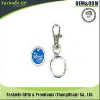 China Promotional Cheap Custom Supermarket Custom Euro Trolley Coin Keyring on sale