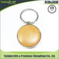 Buy cheap customized round shape wood keychain/Made your own design logo wooden keychain keyring for promotion product