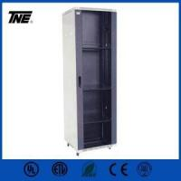 Buy cheap 19 Rack Server Rack for UPS with Smoky Grey Front Glass Steel Network Rack Data Center Cabinet from wholesalers