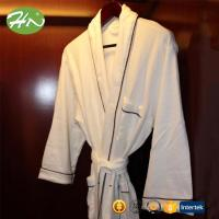 Buy cheap best selling men's quick dry 100% cotton fabric bathrobe and slippers for hotel from wholesalers