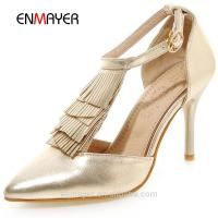 Buy cheap Shoes & Accessories Best selling girls fancy glitter pu tassels new modern high heel sandals from wholesalers