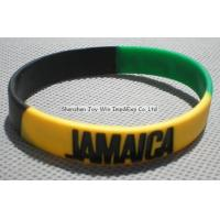 Buy cheap Silicone Wristband Product name:Promotional Flag Silicone Wristband,Segment Wristband from wholesalers