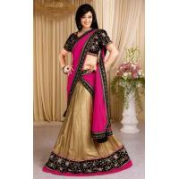 Buy cheap Lehenga Beige & Black Designer Lehenga Choli - DIF 35365 from wholesalers