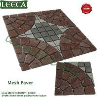 Buy cheap LEECA Porphyry lucky star stone mesh paver from wholesalers