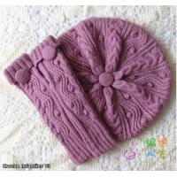 Buy cheap Handmade Beautiful gift for women: knitting beret, scarf from wholesalers