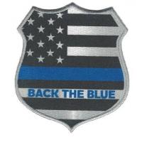 Buy cheap Back The Blue Back the Blue Thin Blue Line Flag Shield Support Police Patch from wholesalers