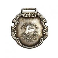 China John Deere Watch Fob Silver Antiqued Finish on sale