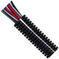 Buy cheap 22 NW Black Polypropylene Deep Section Convoluted Split Tubing from wholesalers