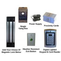 Buy cheap Pedestrian Gate Maglock Kit with Keypad / Card Reader from wholesalers