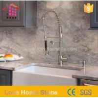 Buy cheap Natural Stone Bathroom Vanity Top Replacement White Double Sink with Stone Tops from wholesalers