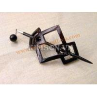 Buy cheap Rhombus hair clasp in black buffalo horn AAA silver from wholesalers
