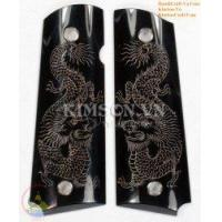 Buy cheap 1911A1 Grips - Made Of Real Black Water Buffalo Horn - Engraved 2 Viet Nam Dragon from wholesalers