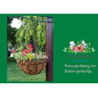 Buy cheap Black Hanging Flower Baskets , Planted Hanging Baskets With Coco Liner from wholesalers