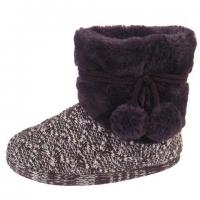 Buy cheap Womens Coolers Ladies Knitted Boot Soft Fleece Lining Slipper Soft Padded Insole. from wholesalers