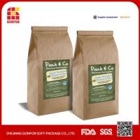 Buy cheap Recycle Stand Up Kraft Paper Coffee Bag With Valve, Zip Tea Bag from wholesalers