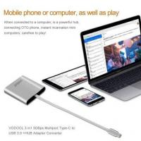 Buy cheap Vodool 3 in 1 5 GBps Multiport Type-C USB 3.0 + HUB Adapter Converter from wholesalers