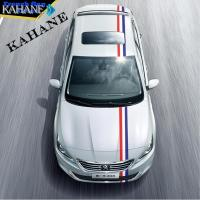Buy cheap 3m Length Car-styling French Flag Stripe Car Hood Vinyl Sticker Body Decal For F from wholesalers