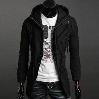 Buy cheap Black Cotton Blends Coat Men's Clothing from wholesalers