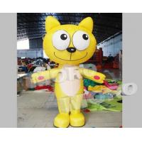 Buy cheap Inflatable Yellow Kitty Costume/Little Cat Walking Mascot from wholesalers