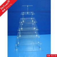 Buy cheap acrylic cake stand Tiered Europe Square Cupcake Stand For Wedding from wholesalers